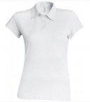 Polo Jersey femme blanc