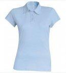 Polo Jersey femme bleu