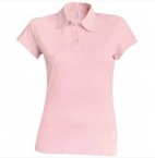 Polo Jersey femme rose