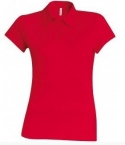 Polo Jersey femme rouge