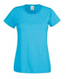 T-SHIRT FEMME VALUEWEIGHT bleu tropical