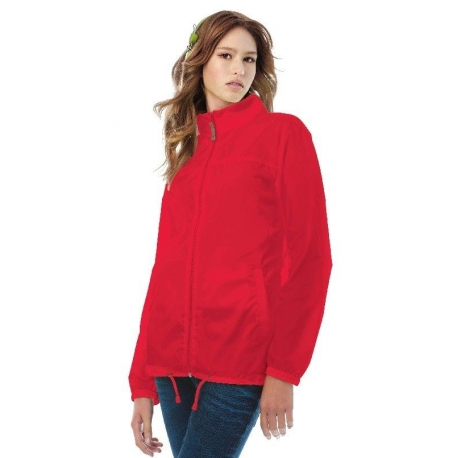 Coupe vent femme rouge