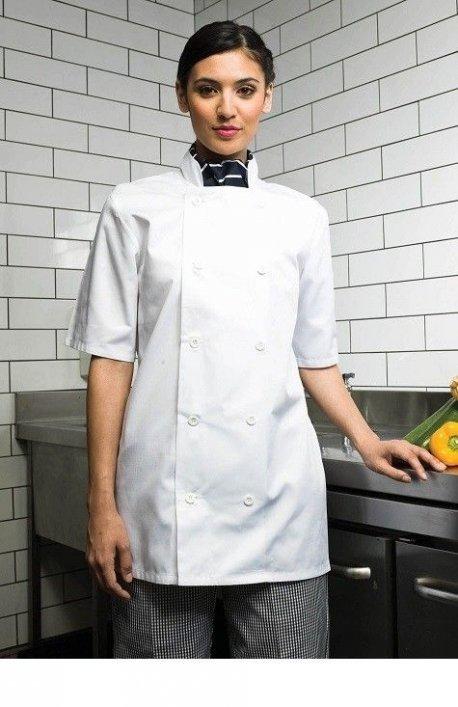 Veste cuisinier manches courtes