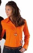 Chemise serveuse femme manches longues orange