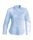 Chemise serveuse femme manches longues bleu clair