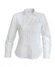 Chemise serveuse femme manches longues blanc