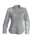 Chemise serveuse femme manches longues gris