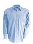 Chemise serveur homme manches longues bleu clair