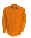 Chemise serveur homme manches longues orange