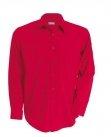 Chemise serveur homme manches longues rouge