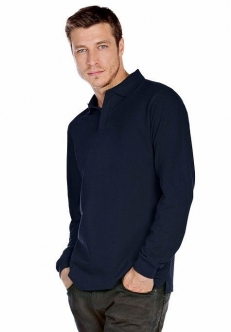 Polo heavymill homme manches longues