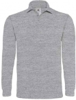 Polo heavymill homme heather grey