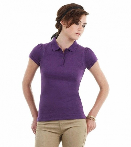 Polo heavymill femme violet