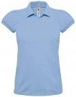 Polo heavymill femme bleu ciel