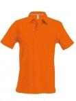 Polo manches courtes homme orange, kariban