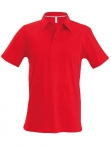 Polo manches courtes homme rouge, kariban