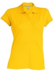 Polo manches courtes femme jaune, kariban