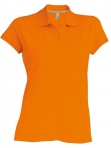 Polo manches courtes femme orange, kariban