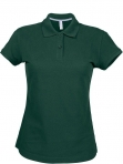 Polo manches courtes femme vert foret, kariban
