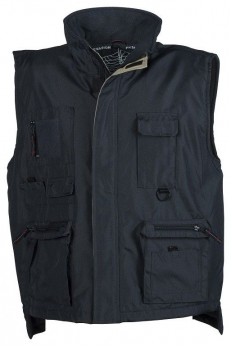 Bodywarmer multipoches couleur marine