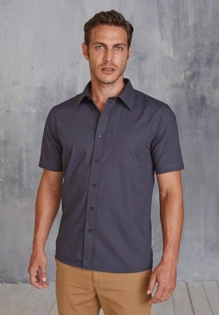 Chemise popeline manches courtes H