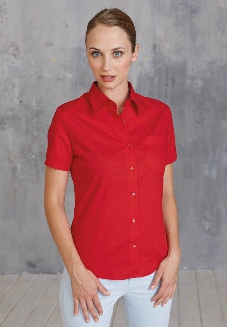 Chemise popeline manches courtes F