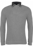 Pull col camioneur gris