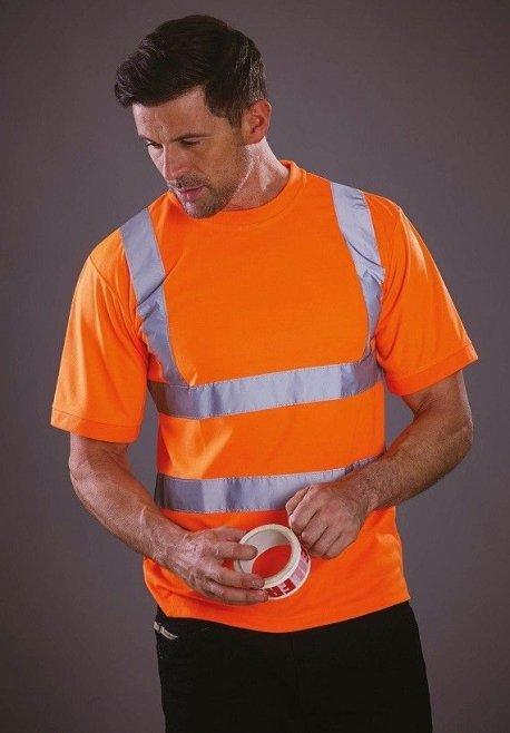 T-shirt manches courtes haute visibilité orange YOKO