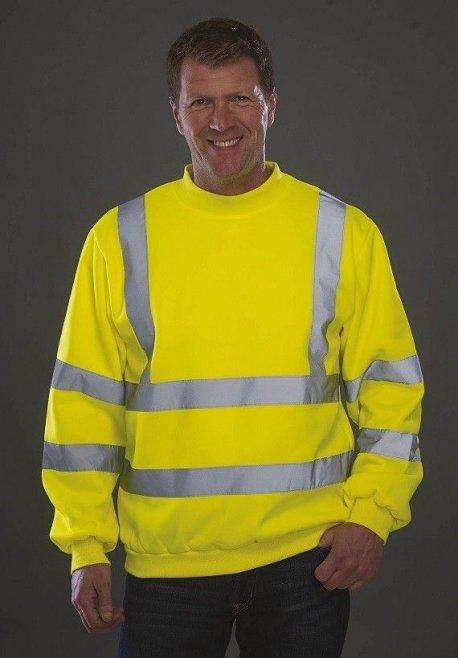 Sweat-shirt haute visibilité jaune YOKO