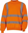 Sweat-shirt haute visibilité orange YOKO