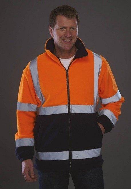 Veste polaire haute visibilité orange marine YOKO