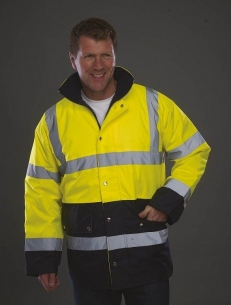 Veste de sécurité bicolore haute visibilité jaune marine YOKO