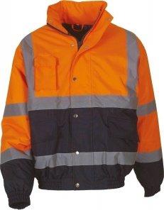 Blouson bicolore haute visibilité orange marine YOKO
