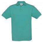 Polo H Safran vrai turquoise