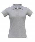 Polo F Safran heather grey