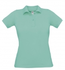 Polo F Safran pixel turquoise