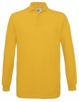 Polo safran homme manches longues