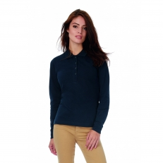 Polo safran femme manches longues