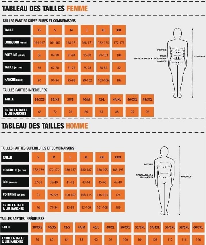 Guide des tailles herock